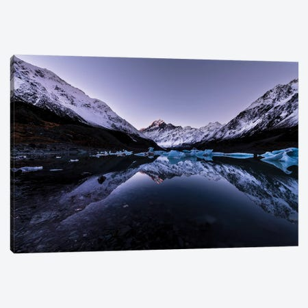 Hooker Lake Reflection, New Zealand Canvas Print #DUE23} by Daisuke Uematsu Canvas Art Print
