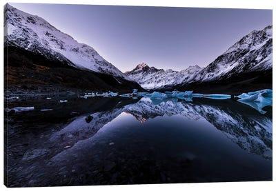 Hooker Lake Reflection, New Zealand Canvas Art Print