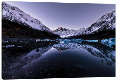 Hooker Lake Reflection, New Zealand Canvas Art Print