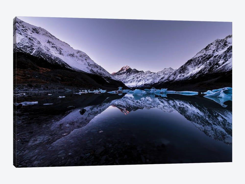 Hooker Lake Reflection, New Zealand by Daisuke Uematsu 1-piece Canvas Art