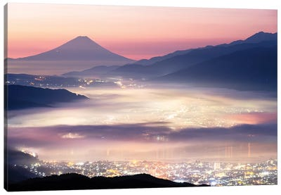 Mount Fuji X Canvas Art Print