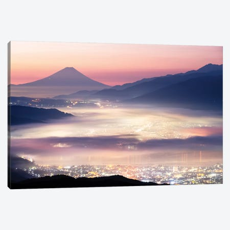 Mount Fuji X Canvas Print #DUE42} by Daisuke Uematsu Art Print