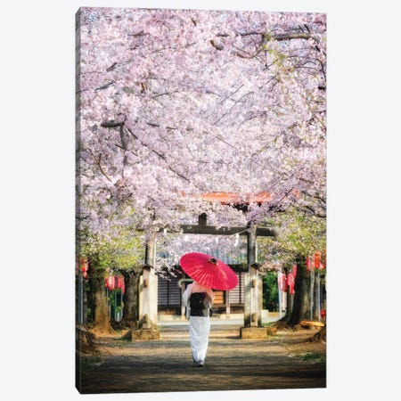 Spring In Japan II Canvas Print #DUE52} by Daisuke Uematsu Canvas Artwork