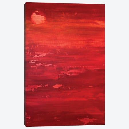 Red Moon Rising Canvas Print #DUN150} by Alicia Dunn Canvas Artwork
