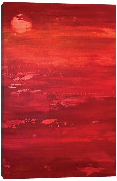 Red Moon Rising Canvas Art Print