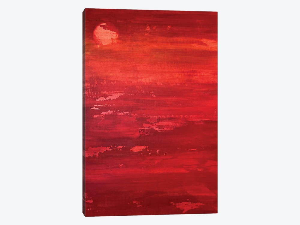 Red Moon Rising by Alicia Dunn 1-piece Art Print