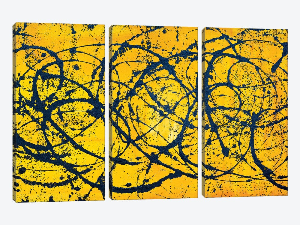Keep It Running by Alicia Dunn 3-piece Canvas Print