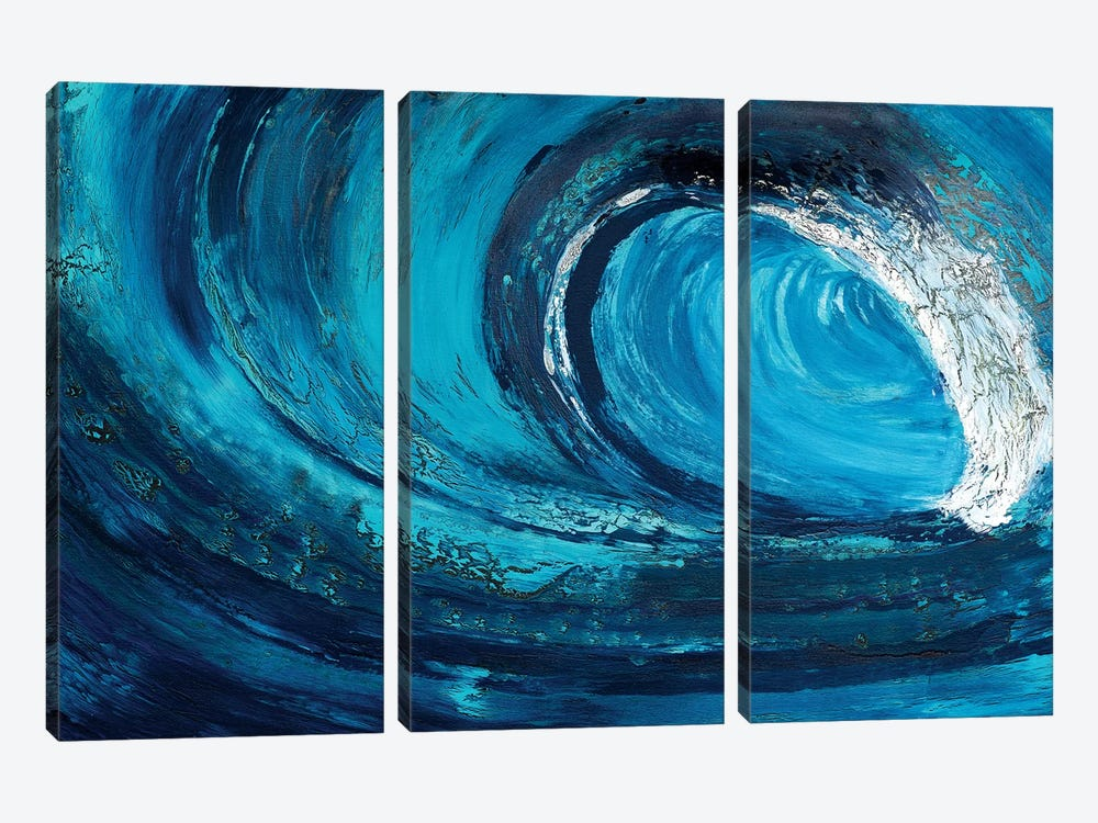 Whiplash by Alicia Dunn 3-piece Canvas Wall Art