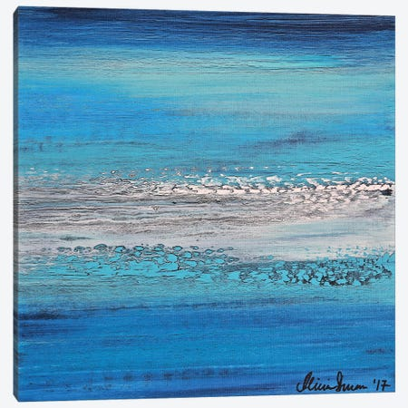 Blue Dreams Canvas Print #DUN62} by Alicia Dunn Canvas Art
