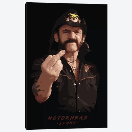 Motorhead Lemmy Canvas Print #DUR100} by Durro Art Canvas Art
