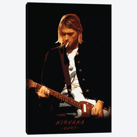 Nirvana Kurt Canvas Print #DUR106} by Durro Art Canvas Print