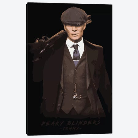 Peaky Blinders Tommy Canvas Print #DUR107} by Durro Art Art Print