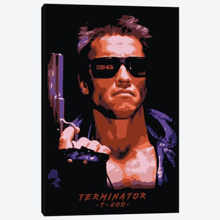 Terminator T-800 Canvas Print #DUR108} by Durro Art Canvas Art