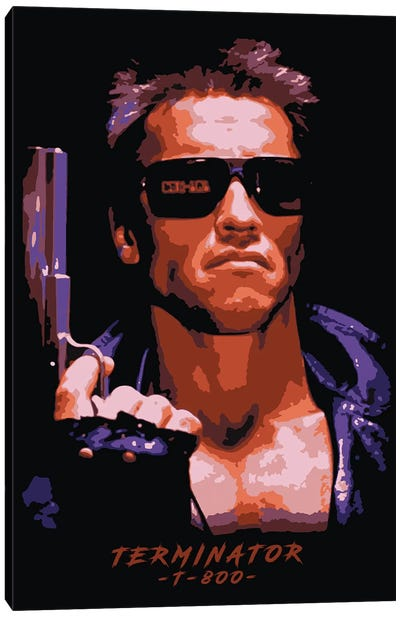 Terminator T-800 Canvas Art Print