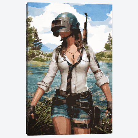 Pubg Gaming Canvas Print #DUR116} by Durro Art Canvas Art