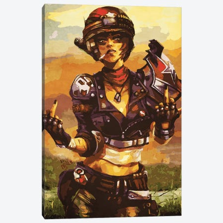 Borderlands Moze Canvas Print #DUR121} by Durro Art Canvas Art