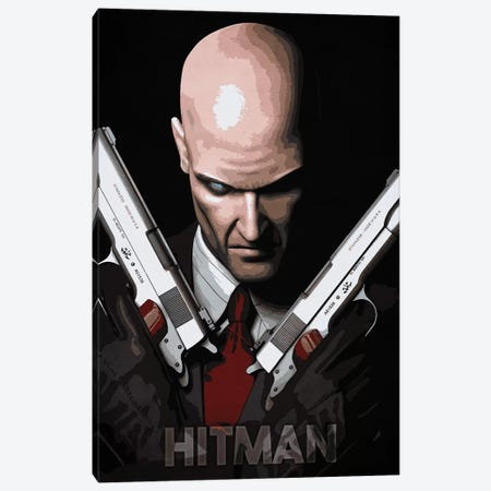 Hitman Canvas Print #DUR149} by Durro Art Canvas Artwork