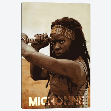 Michonne Canvas Print #DUR157} by Durro Art Canvas Art