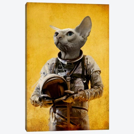 Proud Astronaut Canvas Print #DUR15} by Durro Art Canvas Art