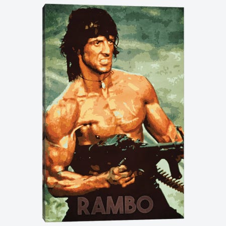 Rambo Canvas Print #DUR160} by Durro Art Canvas Art