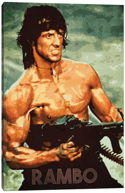 Rambo Canvas Art Print