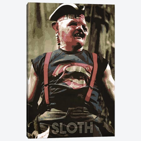 Sloth Canvas Print #DUR162} by Durro Art Canvas Artwork