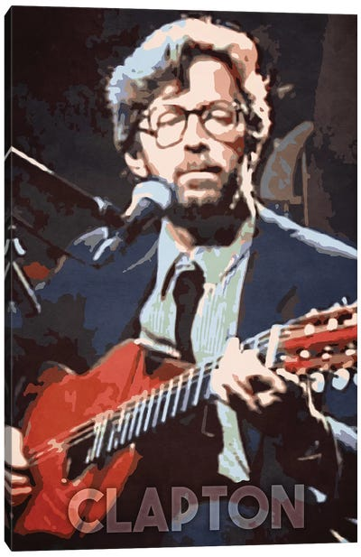Clapton Canvas Art Print