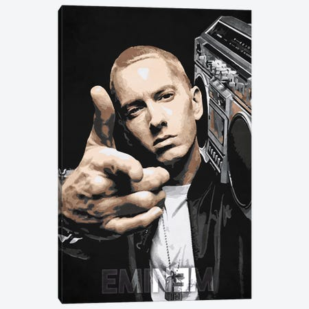 Eminem Canvas Print #DUR180} by Durro Art Canvas Artwork
