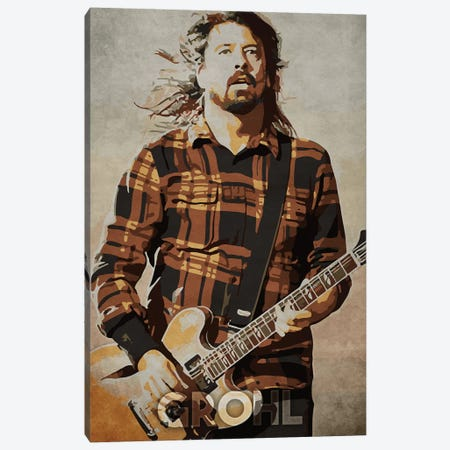 Grohl Canvas Print #DUR181} by Durro Art Canvas Artwork