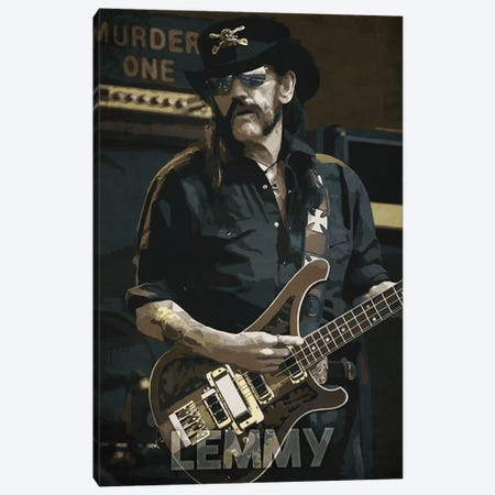 Lemmy K Canvas Print #DUR197} by Durro Art Canvas Art