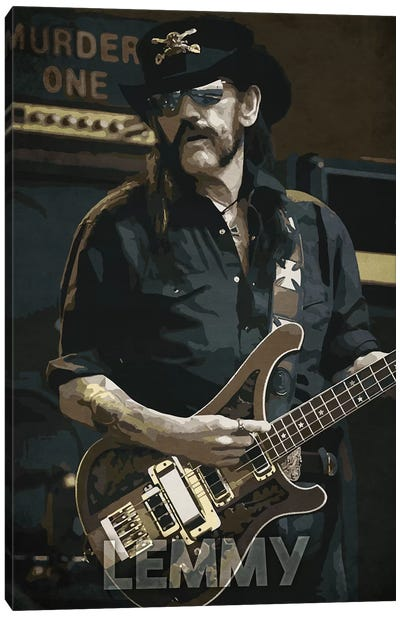 Lemmy K Canvas Art Print