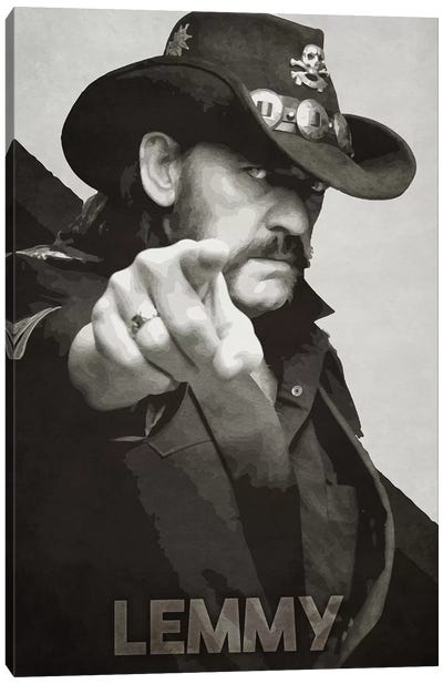 Lemmy K II Canvas Art Print