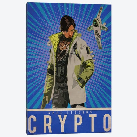 Crypto Canvas Print #DUR207} by Durro Art Canvas Wall Art