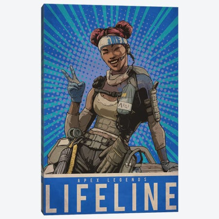 Lifeline Canvas Print #DUR209} by Durro Art Canvas Print