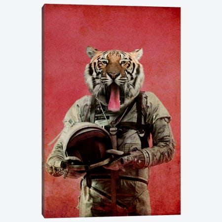 Space Tiger Canvas Print #DUR20} by Durro Art Canvas Artwork