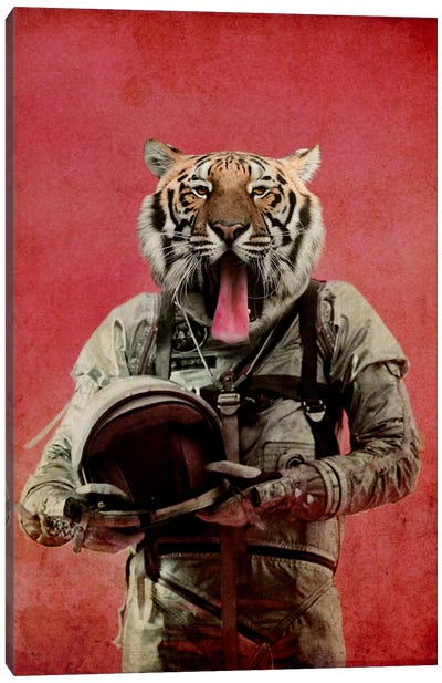 Space Tiger Canvas Art Print