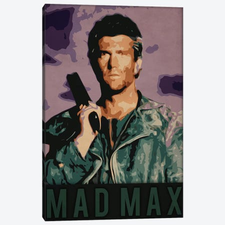 Mad Max Canvas Print #DUR223} by Durro Art Art Print