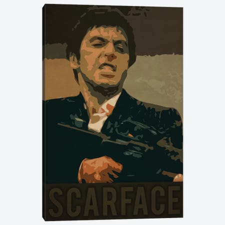 Scarface Canvas Print #DUR226} by Durro Art Canvas Wall Art