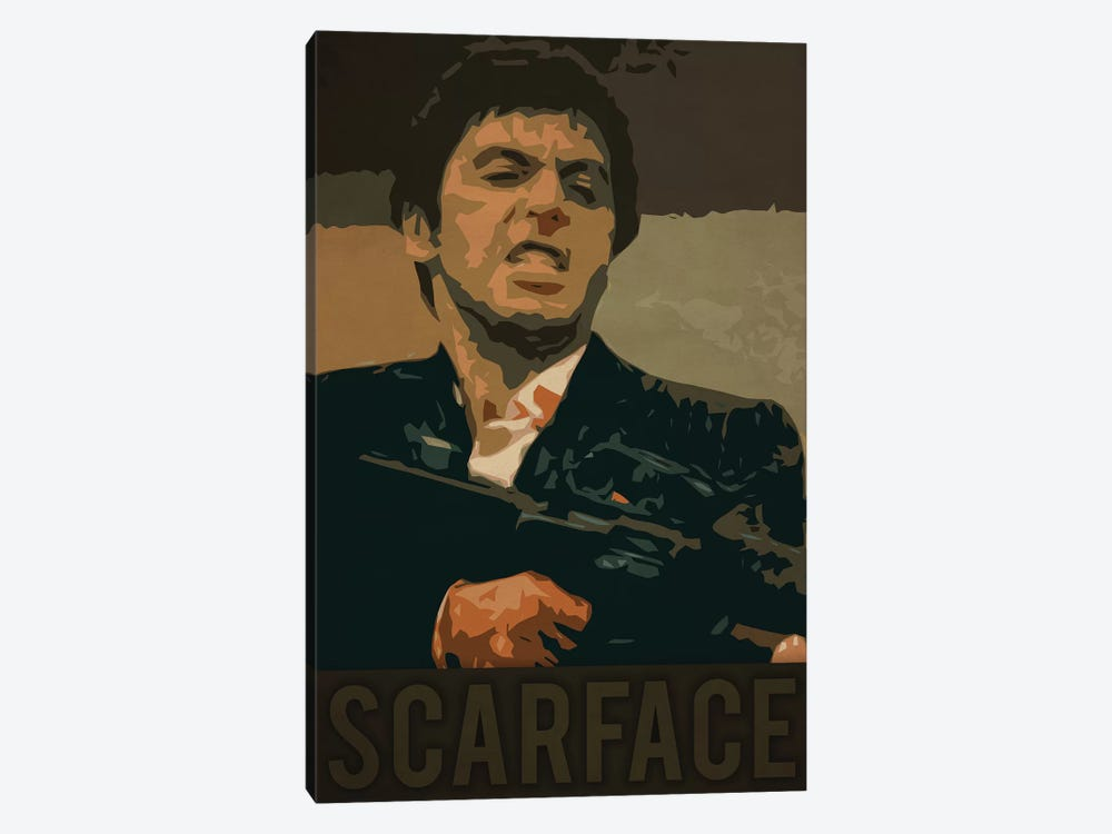 Scarface by Durro Art 1-piece Canvas Print
