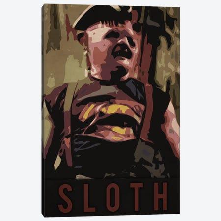 Sloth Canvas Print #DUR227} by Durro Art Canvas Art