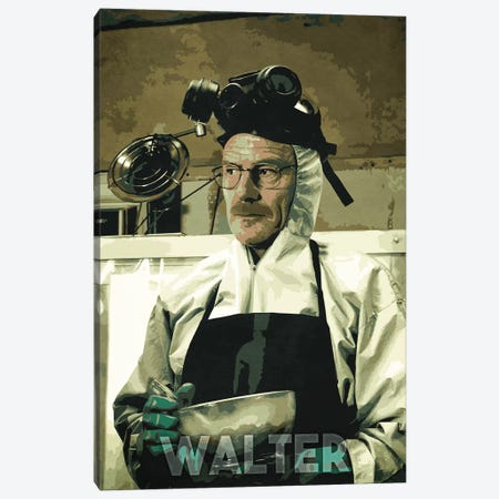 Walter White Canvas Print #DUR233} by Durro Art Canvas Artwork