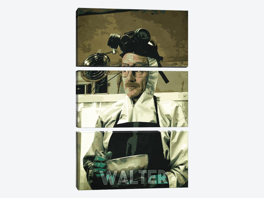 Walter White by Durro Art 3-piece Canvas Print