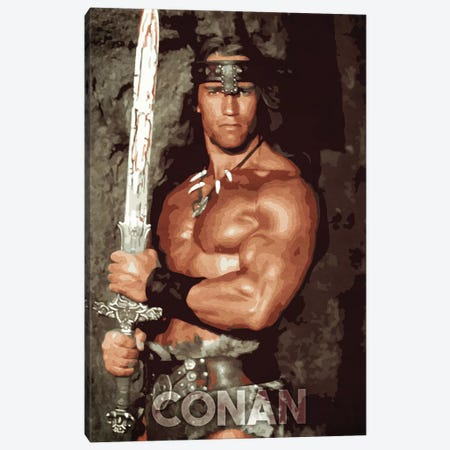 Conan Canvas Print #DUR240} by Durro Art Canvas Art Print