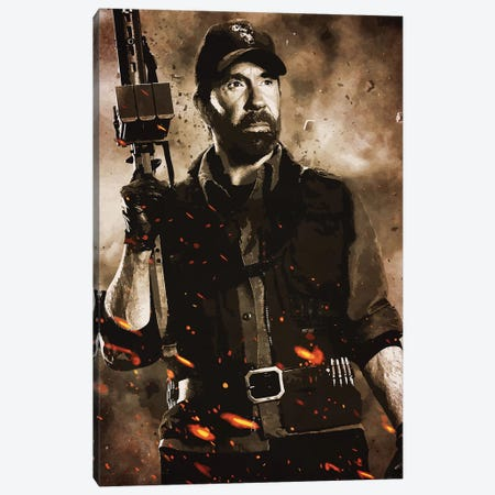 Expendables Chuck Canvas Print #DUR244} by Durro Art Canvas Art
