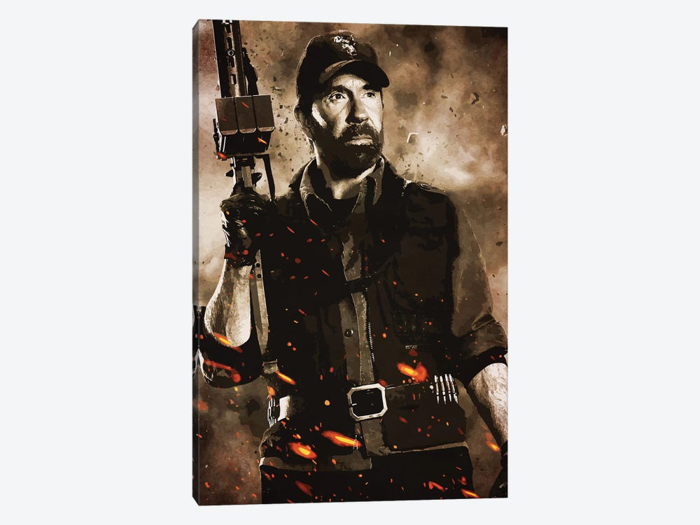 Expendables Chuck by Durro Art 1-piece Canvas Art Print