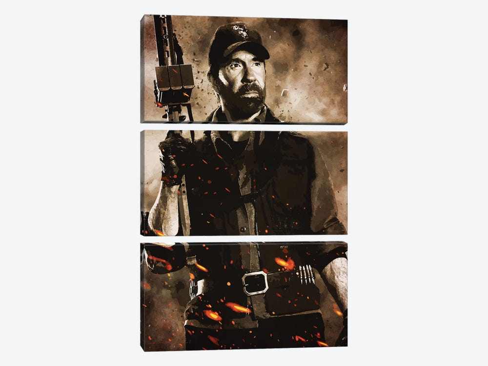 Expendables Chuck by Durro Art 3-piece Art Print