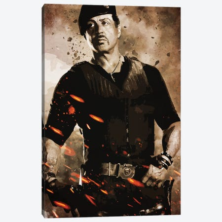 Expendables Stallone Canvas Print #DUR247} by Durro Art Canvas Art