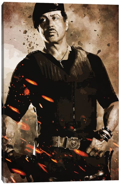 Expendables Stallone Canvas Art Print