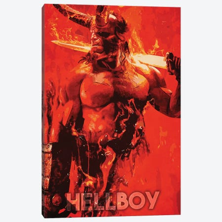 Hellboy Canvas Print #DUR249} by Durro Art Art Print