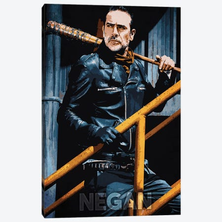 Negan Canvas Print #DUR259} by Durro Art Canvas Artwork